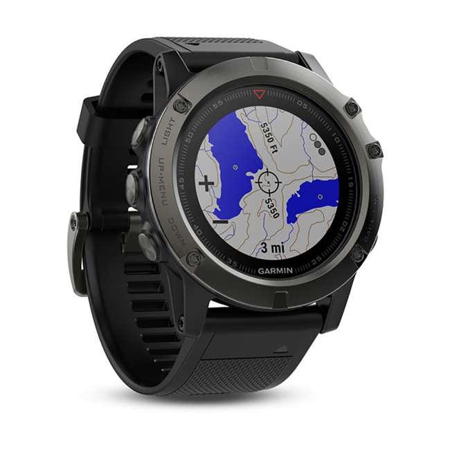 010-01733-00 Garmin Fenix 5X Multi-Sport 64 MB Smart Watch, Gray 2