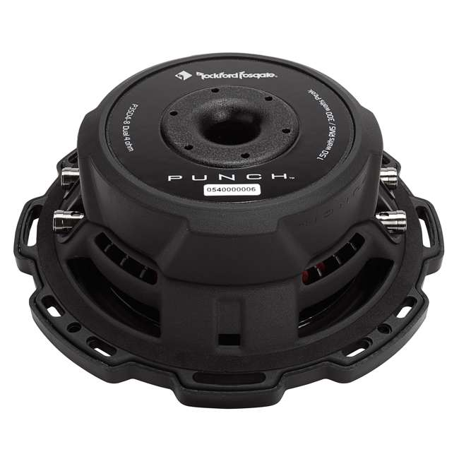 P3SD2-8-OB Rockford Fosgate PS3 8-Inch 300W Shallow 2 Ohm DVC Subwoofer 4