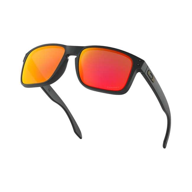 OO9102-E255 Oakley OO9102-E255 Standard Fit Holbrook Sunglasses, Matte Black/Prizm Ruby 4