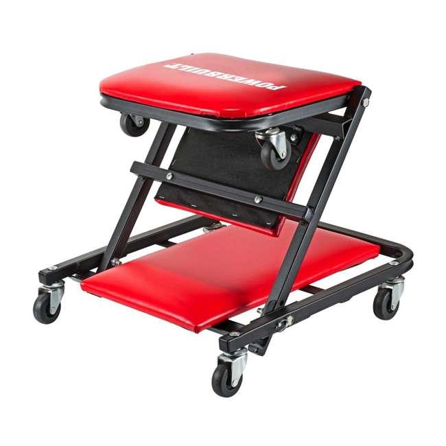 "620513 Powerbuilt 620513 ZAG 2-in-1 36"" Garage Shop Floor Creeper & Rolling Seat Stool"
