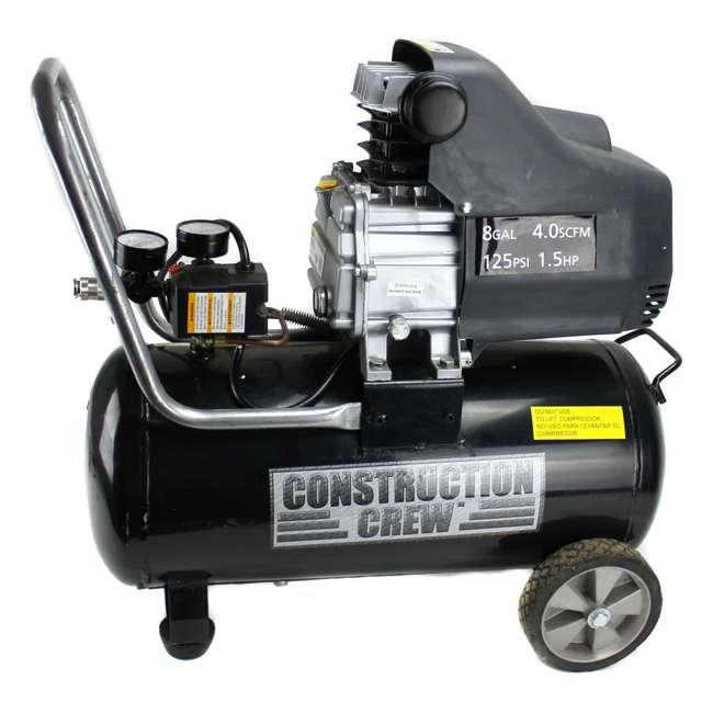 TA-2530B-RB Construction Crew TA-2530B 1.5HP 8 Gallon Portable Air Compressor | (Refurbished) 2