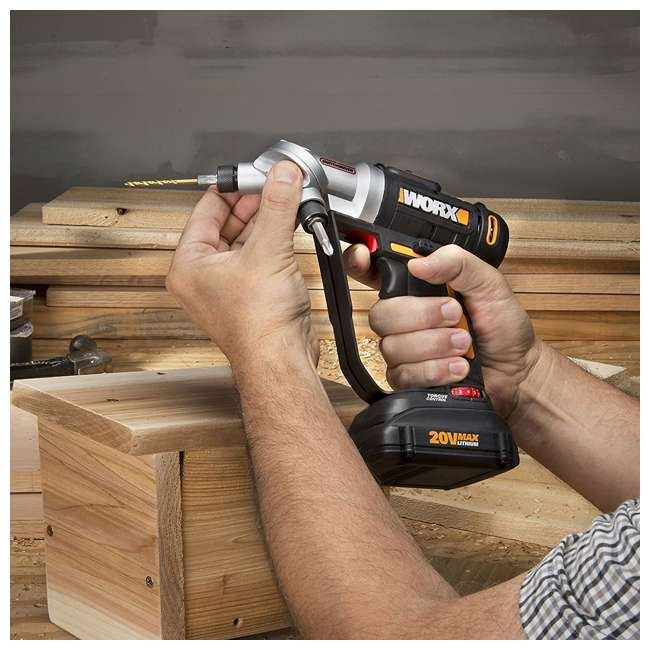 WX176L.9 Worx 20V 2-In-1 Cordless Switchdriver Drill and Driver Tool (Tool Only) 2