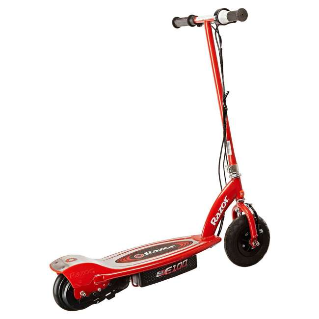 13111260 + 13111261 Razor E100 Kids 24 Volt Electric Powered Ride On Scooter, Red & Pink (2 Pack) 6