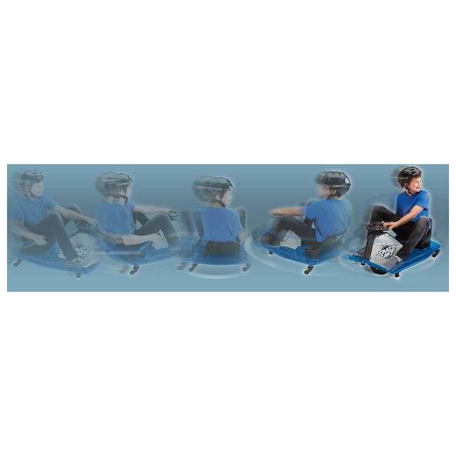 25143442 + 20143460 Razor High Torque Motorized Drifting Crazy Cart w/ Drift Bar, Blue/Red (2 Pack) 8