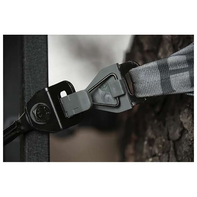 HWK-2000-MF Hawk COMBAT Durable Steel Hang-On Hunting Treestand & Full-Body Safety Harness 1