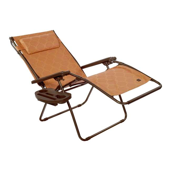 GWD-463TCr Bliss Hammocks 30 Inch Zero Gravity Chair w Canopy & Tray, Terracotta (2 Pack) 2