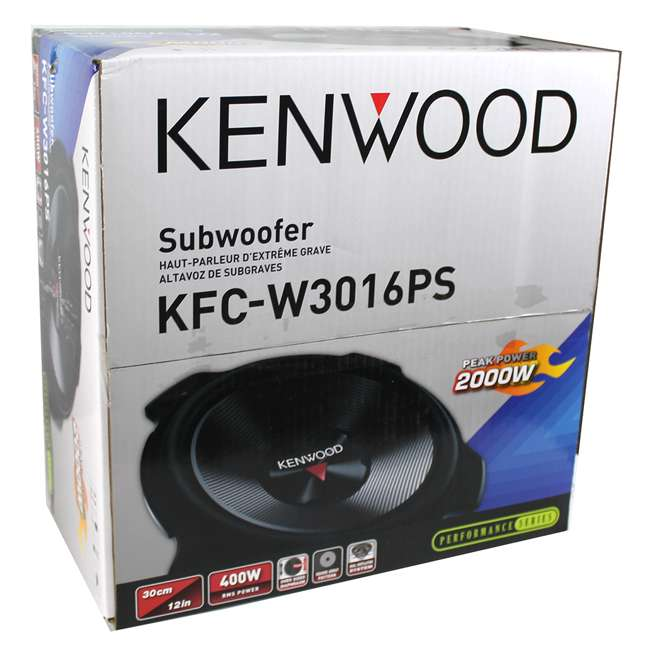 "KFC-W3016PS + QDODGE124DOOR + AR4000D + 4GAUGE Kenwood 12"" 2000W Subwoofer Pair + '02 Dodge Ram Quad Box, Mono Amp & Wiring Kit 5"