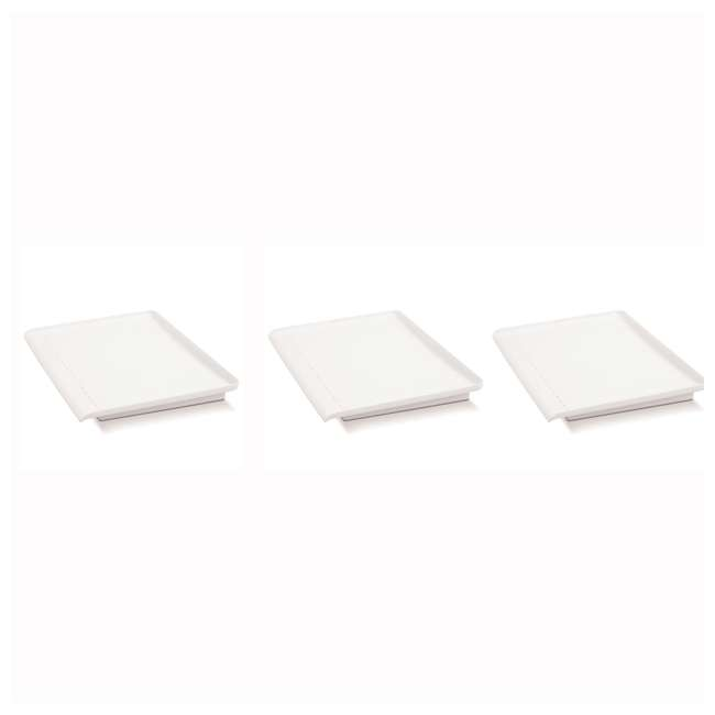 3 x 18114 Madesmart Elevated Counter-Top Draining Board, White (3 Pack)