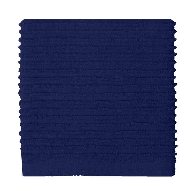 9459-1955 MU Kitchen 9459-1955 Set of 1 Ridged Cotton Dishcloth and 2 Dish Towels, Blue 3