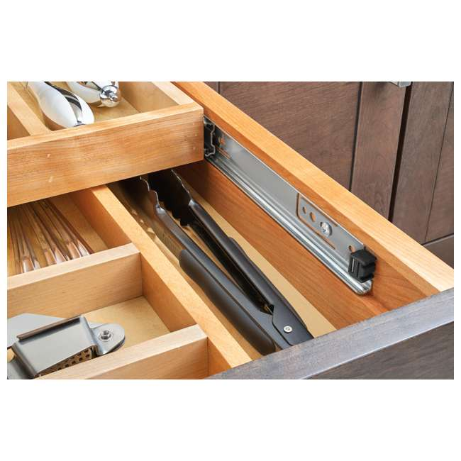 "4WTCD-24SC-1 Rev-A-Shelf 4WTCD-24SC-1 21"" Kitchen Utensil Pullout Drawer Organizer, X Large 2"