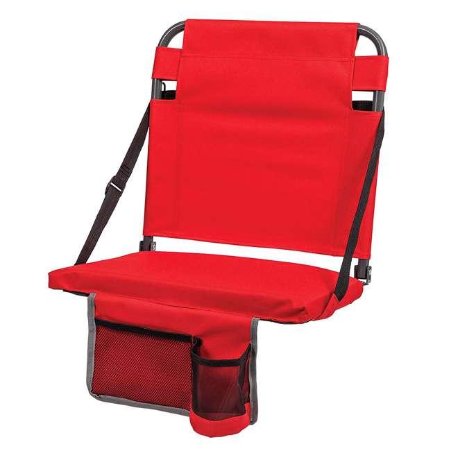 1-1-58813-DS-U-A Eastpoint Sports Adjustable Bleacher Backrest Seat, Red (Open Box) (2 Pack)
