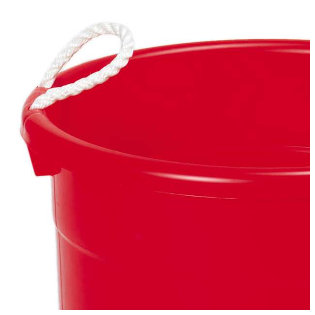 6 x 8119RD-6 Continental Commercial Huskee Hauler 19-Gallon Bucket (6 Pack) 4