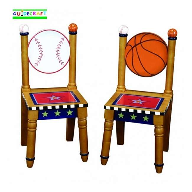 G85603 Guidecraft Playoffs Wood Extra Chairs (2)