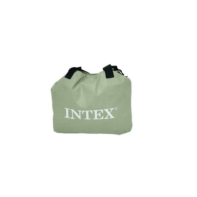 66705E Intex Twin Raised Pillow Rest Airbeds with Built-In Pump (2 Pack) 3