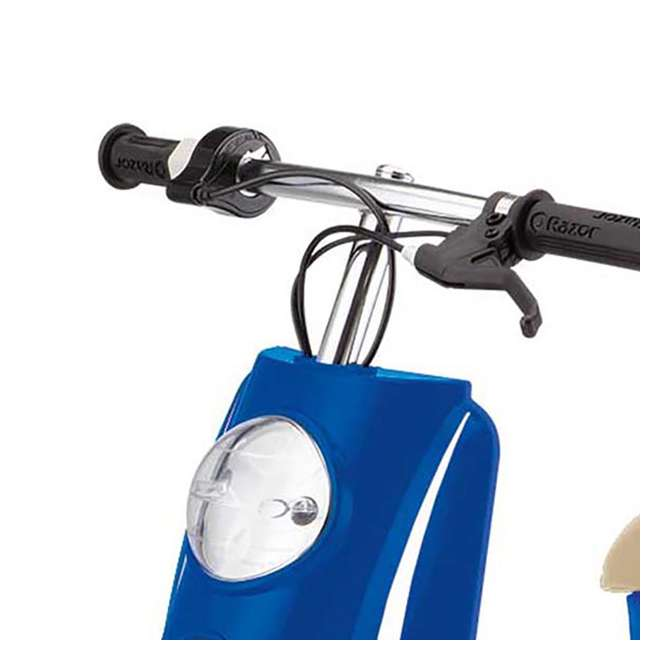 15130641 + 97778 Razor Pocket Mod Miniature Electric Scooter + Youth Helmet 4