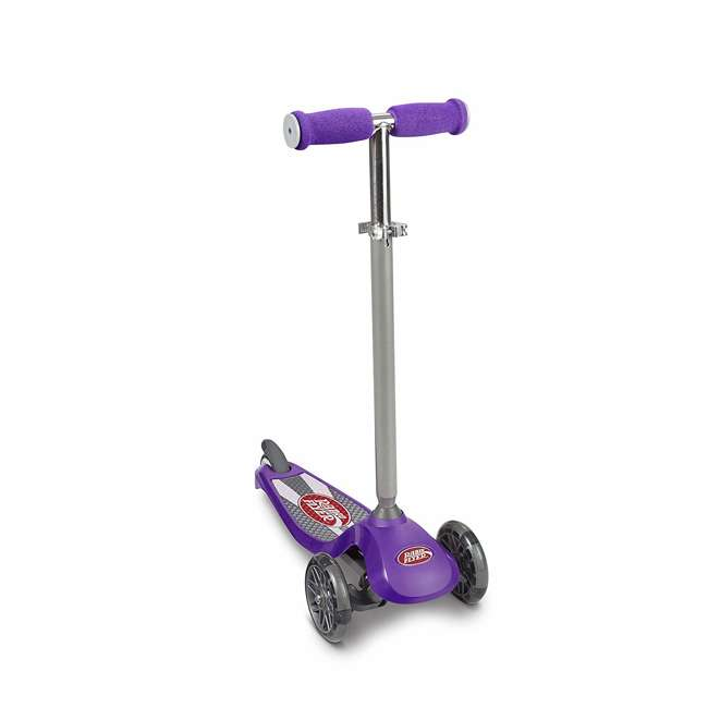549PPZ Radio Flyer 549BZ Lean 'N Glide Kids 3-Wheel Scooter w/ Light Up Wheels, Purple