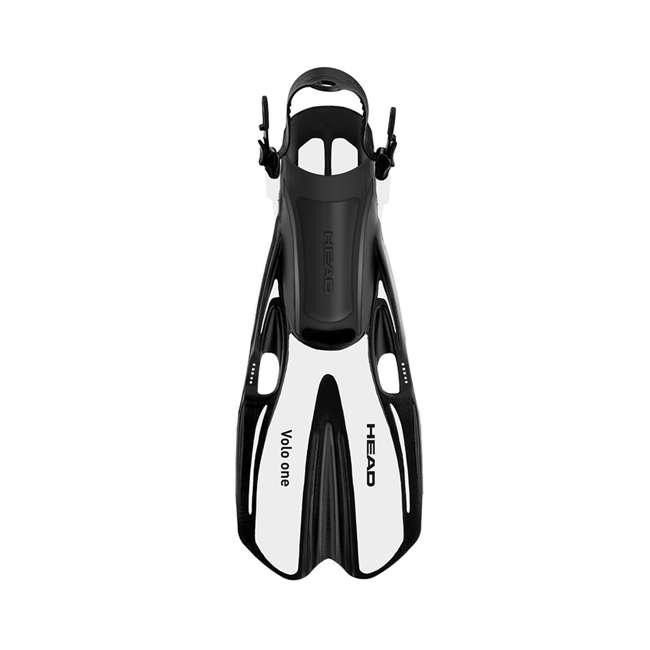 496325-BKBKS-M + 480203-SFWHML Head Sea Vu Gray Adult Snorkeling Mask w/ White Fins, MedLg 3
