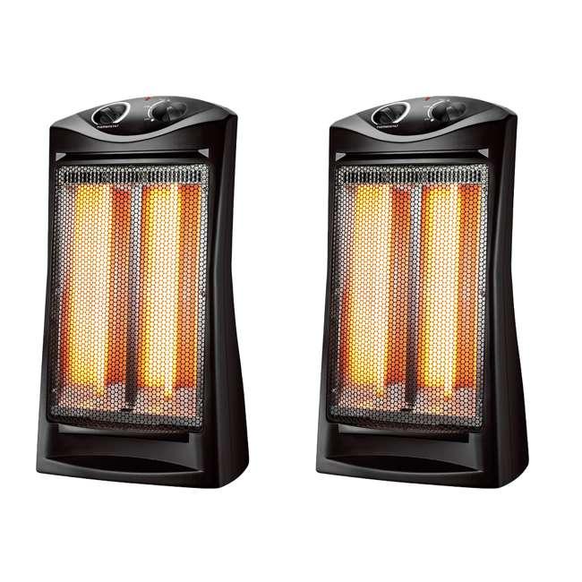 konwin infrared quartz large room tower heater 2 pack tqh 06. Black Bedroom Furniture Sets. Home Design Ideas
