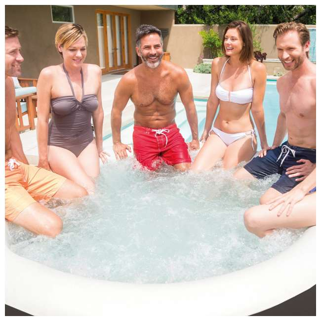 28407VM + 28500E + 2 x 28501E Intex PureSpa 6 Person Inflatable Hot Tub & Cup Holder & Headrest (2 Pack) 4