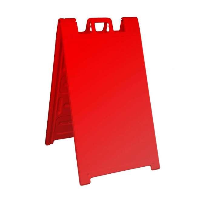 130-R Plasticade 130-R Signicade A Frame Plain Portable Folding Sidewalk Sign, Red
