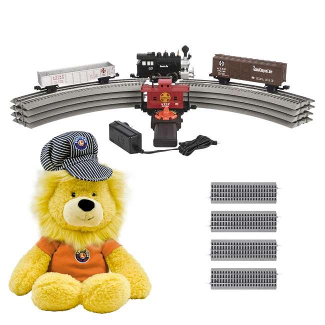 "711850 Lionel Junction Santa Fe Steam Set w/ 4 10"" FasTracks & Lenny the Lion(Open Box)"