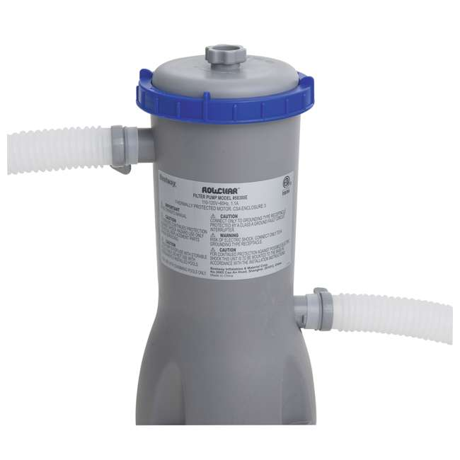 58476E-BW + 58388E-BW Bestway Anti Microbial Type III Filter Cartridge (2) w/Above Ground Filter Pump 7