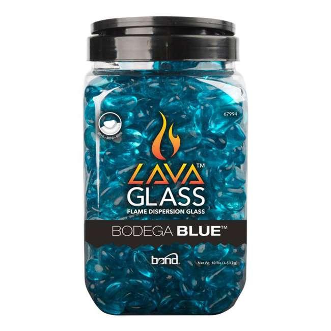 67994 Bond Manufacturing 67994 LavaGlass Mini 10 Pound Fire Pit Glass, Bodega Blue