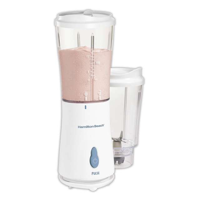 51102 + BLEND-BIBLE Hamilton Beach Single Serve Compact Blender with The Blender Bible Recipe Guide 2