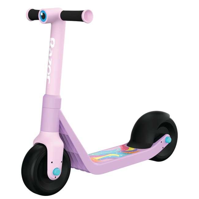 13059664 Razor Wild Ones Kids Junior Kick Scooter with Extra-Wide Deck & Wheels, Unicorn