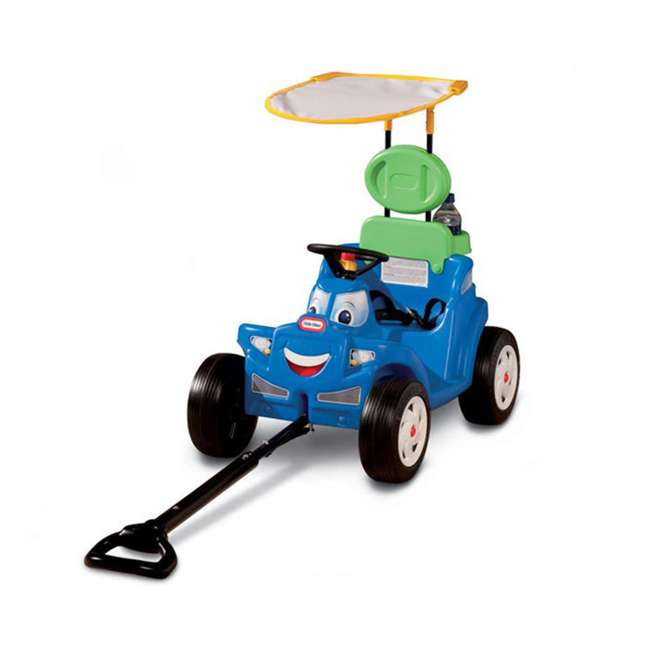 622069MP Little Tikes Deluxe 2 in 1 Cozy Roadster Toddler Kids Push Car Ride On Toy, Blue