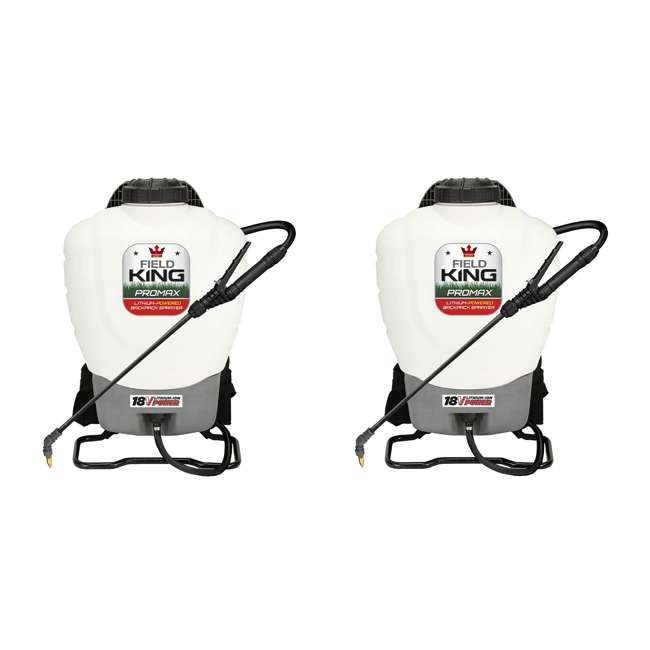 FDK-190515 Field King 190515 Lithium Ion Powered Backpack Sprayer (2 Pack)