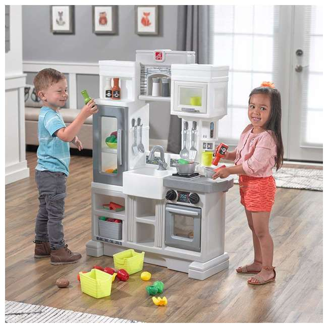482600 Step2 Downtown Delights Pretend Play Toy Kitchen Set 1