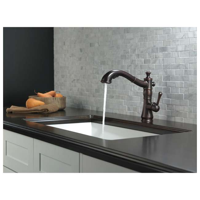 4197-RB-DST Delta Cassidy Single Handle Pull-Out Faucet, Bronze (2 Pack) 3