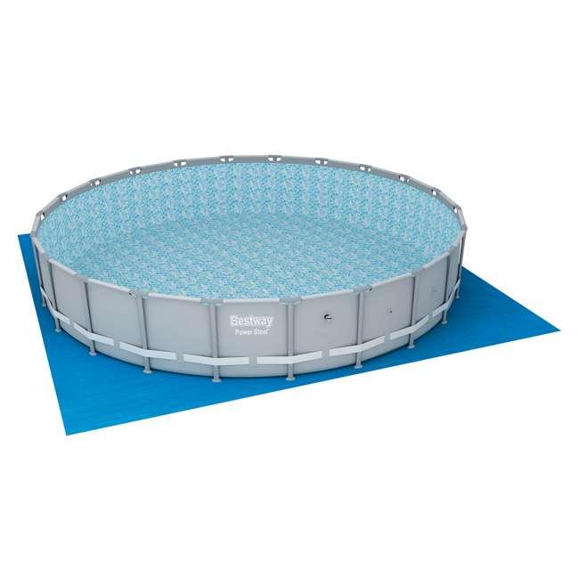 56392E-BW + 58422E-BW Bestway Power 22 x 4.3 Foot Swimming Pool w/ Pump & Filter & Bestway Pool Vacuum 4