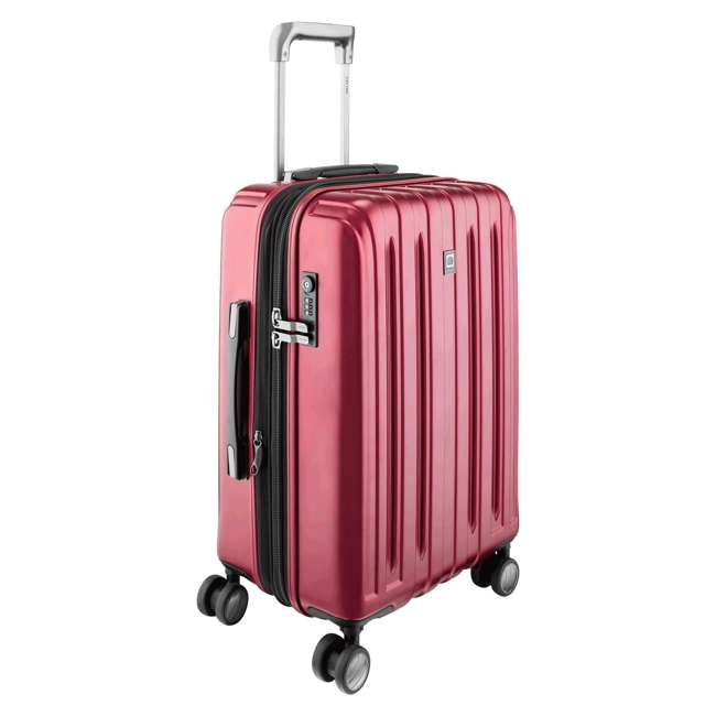 00207180004 DELSEY Paris Titanium Expandable Carry On Spinner Rolling Luggage Suitcase, Red 1