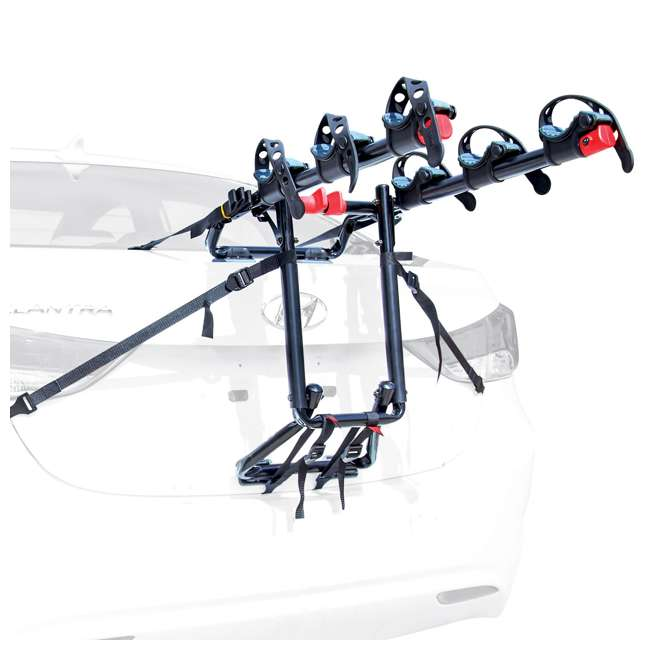 4 x S-103-U-B Allen Sports 3 Bike Foldable Trunk Carrier with Tie Down Straps (Used) (4 Pack)