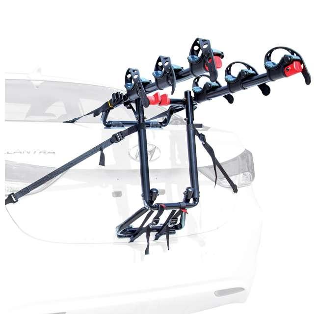 S-103-U-A Allen Sports Premier 3 Bike Steel Trunk Carrier with Tie Down Straps (Open Box)