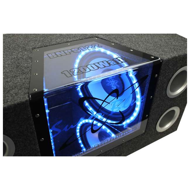 BNPS122 + R1100M + AKS8 Pyramid BNPS122 12-Inch 1200W Subwoofer with Box + 1100W Mono Amp + Amp Kit (Package) 2