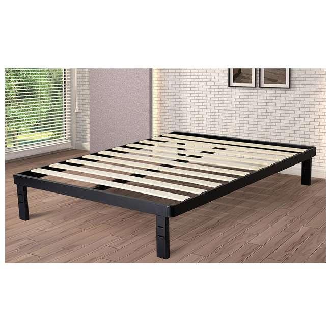 intellibase 18 inch wood slat metal bed frame black full vmi 18wdslbf f. Black Bedroom Furniture Sets. Home Design Ideas