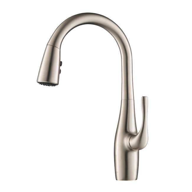 KPF-1670SFS Kraus Esina Single Handle Stainless Steel Faucet, Silver (2 Pack) 1