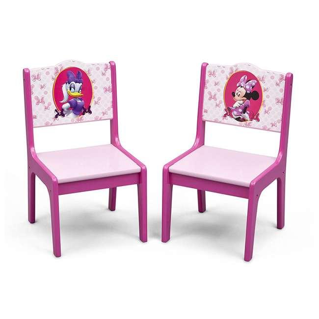 TT89500MN-1061 Delta Children Disney Minnie Mouse Deluxe Storage Table & Chairs 3