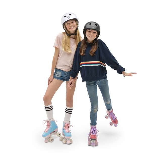 168260 Circle Society Classic Cotton Candy Kids Skates, Girls Sizes 12 to 3 5