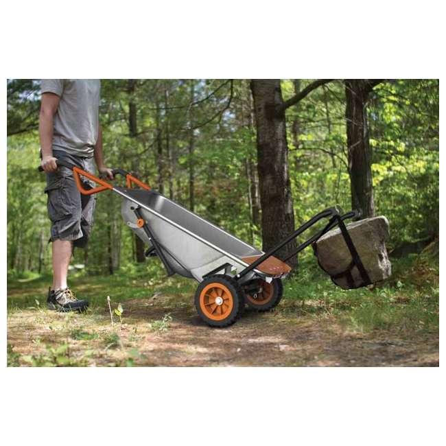 WG050-U-C Worx WG050 Aerot 8-In-1 Wheelbarrow Dolly t Garden rier - Missing Wheel 8