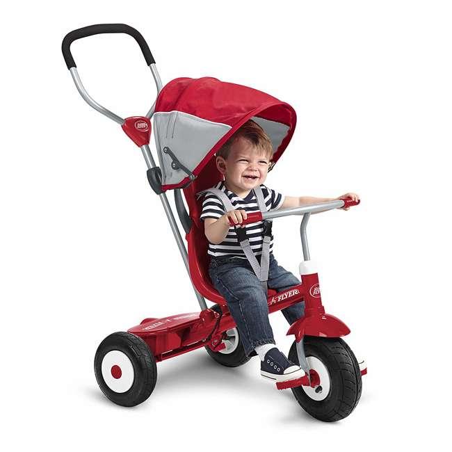 816Z Radio Flyer Sport 4 in 1 All Terrain Kids Stroll 'N Trike Ride On Tricycle, Red 3