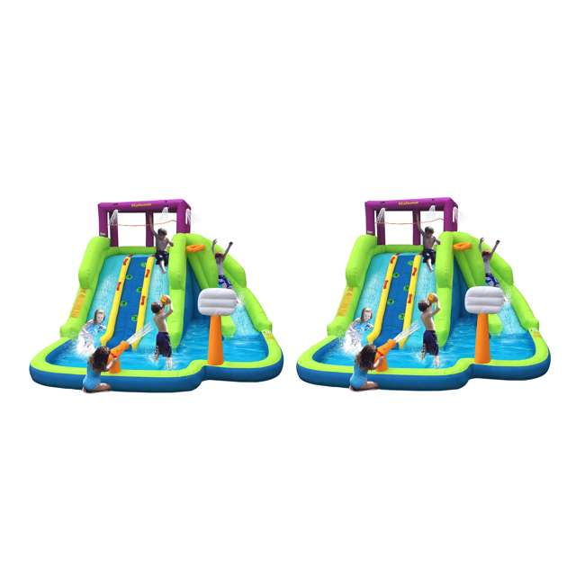 90360 Kahuna Triple Blast Inflatable Water Slide (2 Pack)