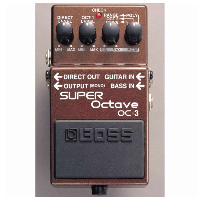4 x OC-3 Boss OC-3 Electric Guitar Dual Super Octave Guitar Pedal, Brown (4 Pack) 2