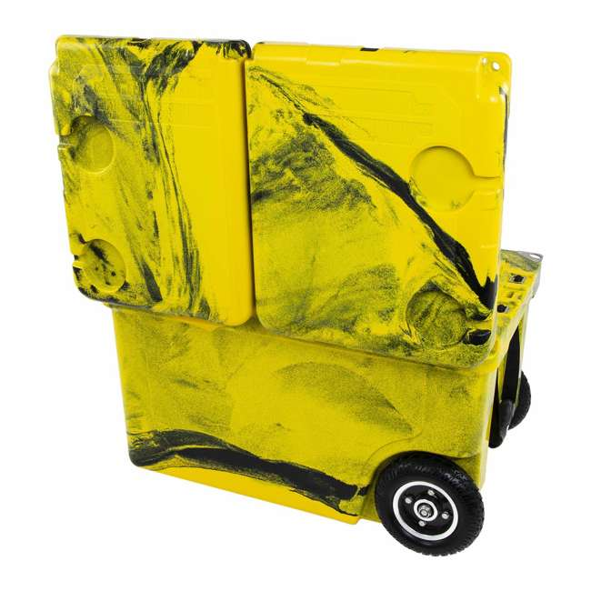 HC50-17YB WYLD HC50-17OB 50 Qt. Dual Compartment Insulated Cooler w/ Wheels, Yellow/Black 4