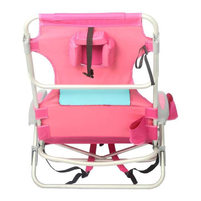 LCCOYB-2000P Ostrich Outdoor Beach Ladies Comfort and On-Your-Back Backpack Beach Chair, Pink 3
