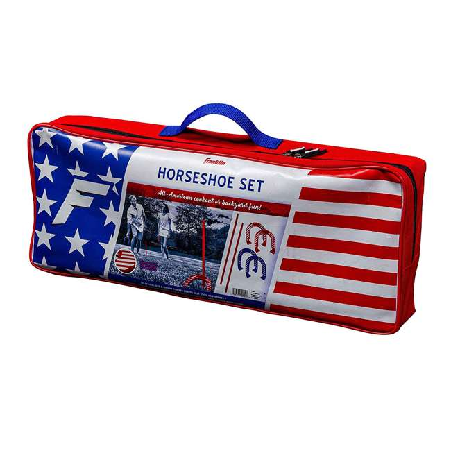 50011 Franklin Sports Horseshoe Set with Bag, Red/White/Blue 1