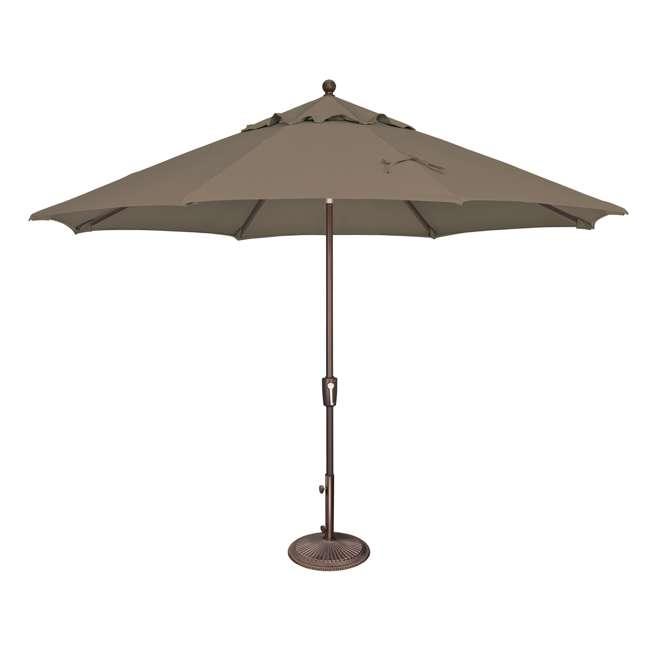 SSAD45SL-10SQ00-D3474 SimplyShade Bali 10 Foot Square Cantilever Outdoor Patio Balcony Umbrella, Taupe